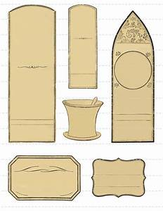 digital download collage sheet blank antique 180039s With blank labels for jars