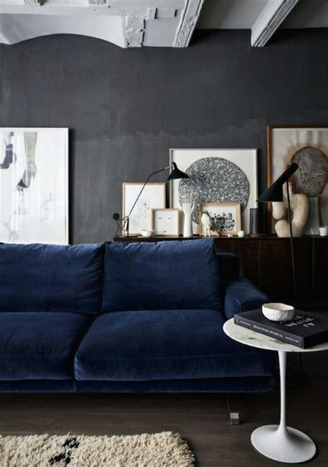 canapé gris bleu couleur mur salon taupe 9 salon avec canape bleu