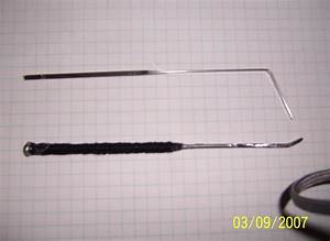 Homemade snake rake lock pick homemade ftempo for Lock pick rake template