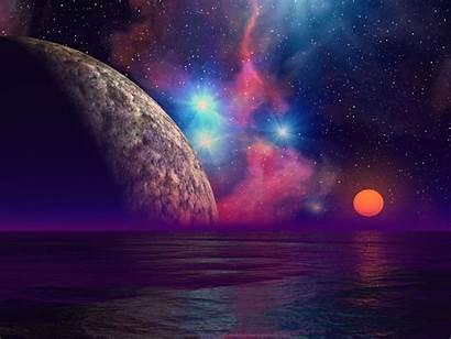 Alien Sunset Wallpapers Planet Background Cool Desktop