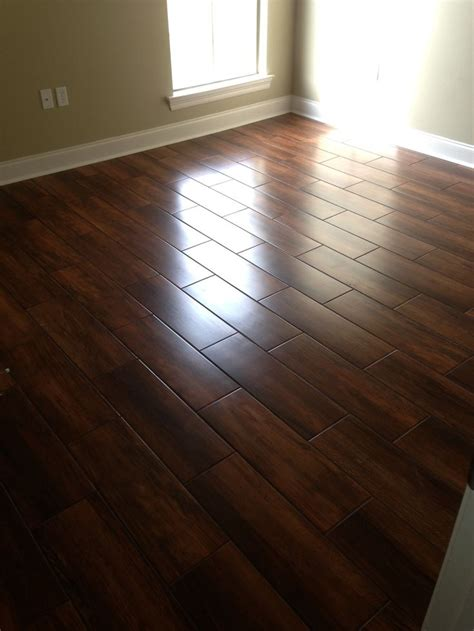 ceramic wood look flooring wedge job nobile siena 8x24 wood look ceramic tile bathroom floor pinterest carpets the