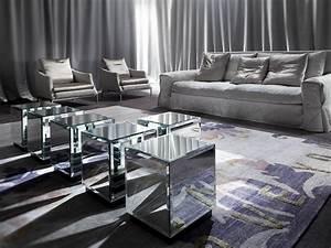 Table Basse Miroir : table basse carr e en verre miroir riflesso by erba ~ Melissatoandfro.com Idées de Décoration
