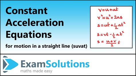 Spice of Lyfe: Formula For Constant Acceleration In Physics
