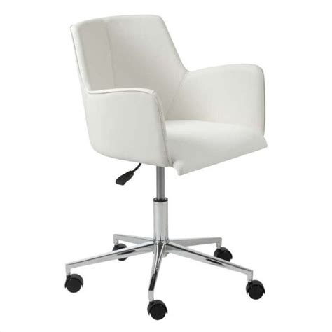 eurostyle office chair in white chrome 17622wht
