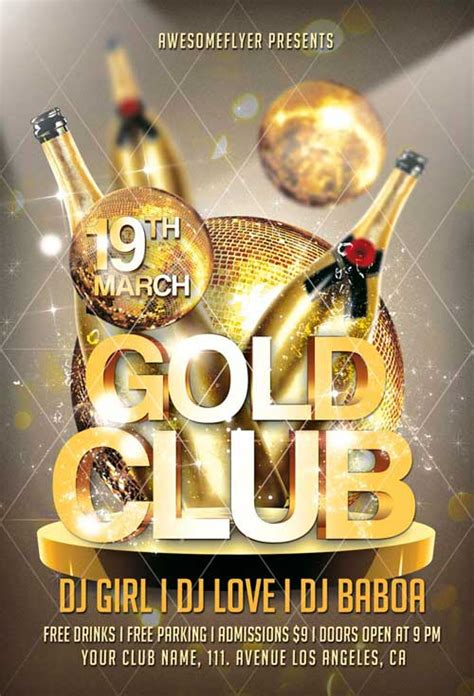 gold  luxury flyer templates  psd