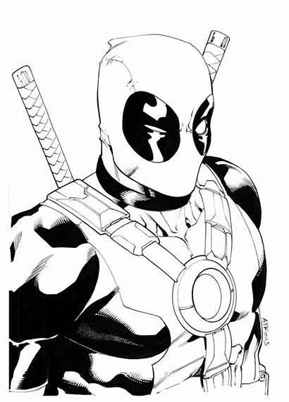Deadpool Coloring Pages Printable Comic Awesome