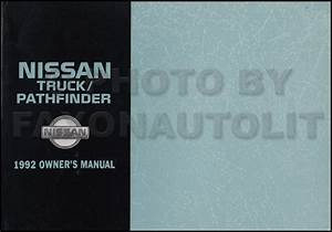 1992 Nissan Truck And Pathfinder Wiring Diagram Manual