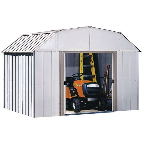 Arrow Galvanized Steel Storage Shed 10x8 by Arrow Dakota 10 Ft X 8 Ft Steel Shed Dk108 The Home Depot