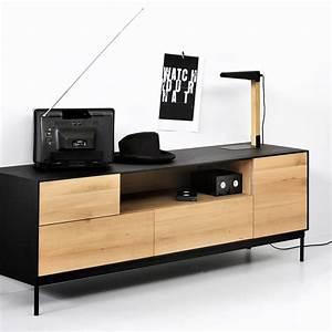 Blackbird TV Mobile Porta TV Ethnicraft In Legno Con