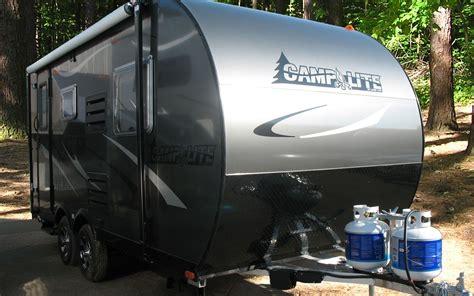 small camper trailer  toilet  shower