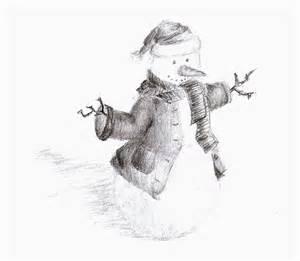 Christmas Snowman Pencil Drawings