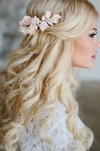 Wedding Hairstyle For Long Hair With Flower