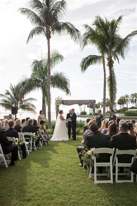 Outdoor Waterfront Downtown Hotel Wedding Ceremony