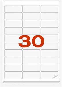 Label Templates 30 Per Sheet Mailing Labels Zippy Labels
