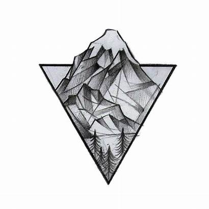 Triangle Tattoo Mountain Drawing Geometry Idea Shape