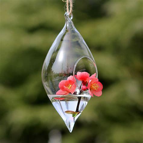 teardrop crystal glass flower vase glass terrarium