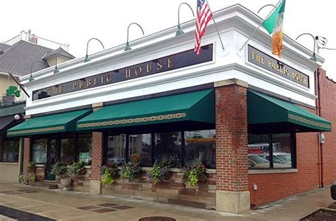 New Awnings With Custom Graphics At Public House