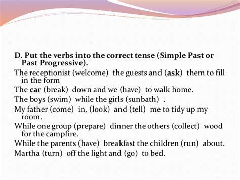 language profiecency 1 tenses