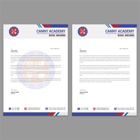 education letterhead design required