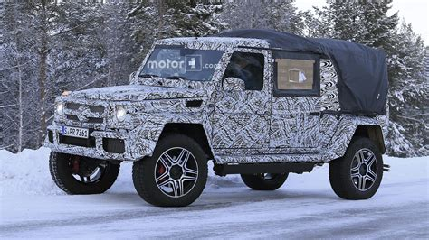 mercedes g500 pickup 2018 mercedes g class 4x4 178 spied as double cab pickup