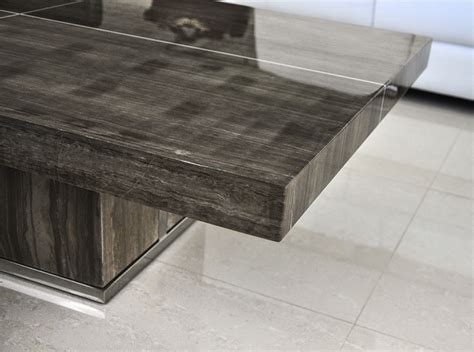coffee table rosewood and black granite coffee