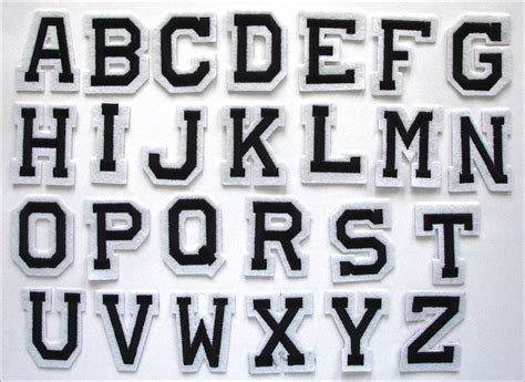 iron on letters embroidered iron on adhesive stick patch alphabet letters 22597