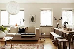 Creez votre ambiance chaleureuse avec un tapis salon ethno for Tapis kilim avec canapé moutarde convertible