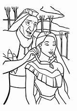 Coloring Pocahontas Tunes Looney Disney sketch template