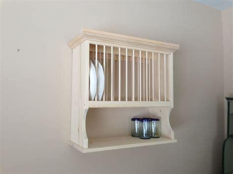 wooden plate rack wall shelf wood shelves walls sedentary dom  minimalizm