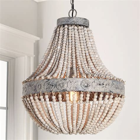 farmhouse style ceiling fans with lights aged wood beaded chandelier shades of light