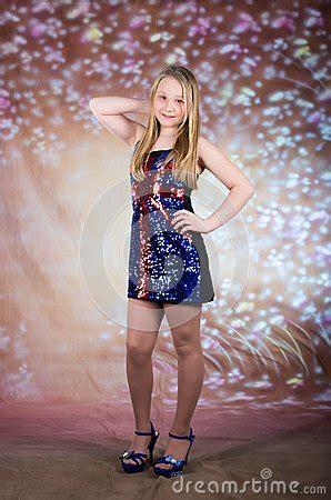 teen girl  party dress stock photo image