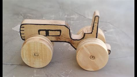 wooden toy tractor  handmade wooden