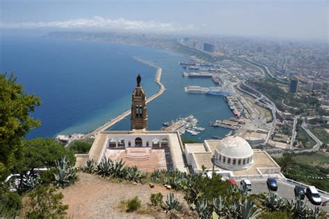Church of Santa Cruz and the Port of Oran from the Fort of ...