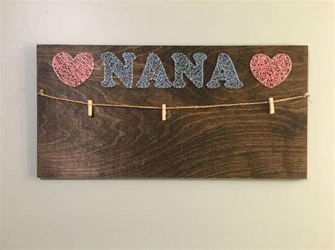nana picture holder strings  stephanie string art