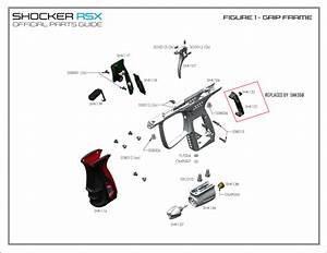 Rsx  U2013 Parts By Diagram  U2013 Trigger Frame  U2013 Shocker Paintball