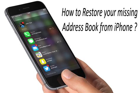 how to restore an iphone how to recover deleted address book from iphone