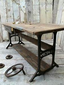 Tisch Neu Gestalten : 60 ideas to recycle vintage sewing machines sewing machine tables do it yourself and legs ~ Markanthonyermac.com Haus und Dekorationen