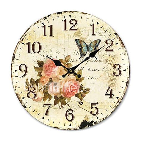 country floral wall clock 418213 2016 13 99