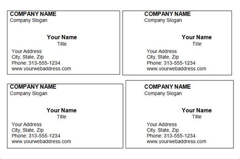 printable business card templates  word ellipsis