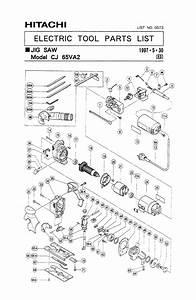 Buy Hitachi Cj65va2 Replacement Tool Parts