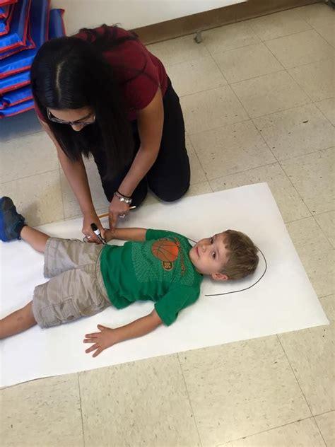 Body tracing fun activity. | Preschool kids, Primary children, Primary lessons
