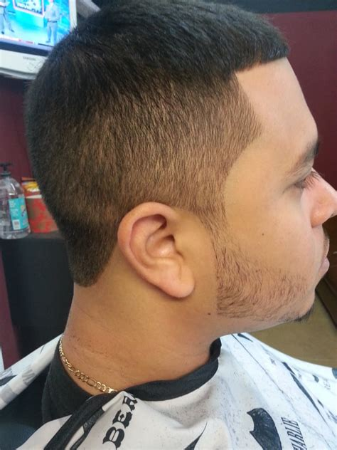 top  light taper  sides  full head  beard    barber sherm yelp