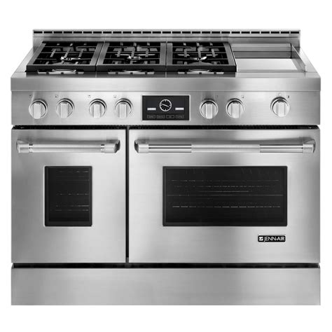 jenn air jgrp548wp 6 3 cu ft 48 quot pro style oven gas range w griddle and