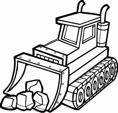 Coloring Pages Excavator Bulldozer Printable Smartboard Shovel