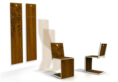 Hanging Folding Chairs On Wall by Elegant Folding And Hanging Wall Chairs
