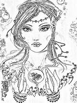 Coloring Adult Pages Patterns Burning Wood Books Colouring Embroidery Sheets Pyrography Stuff Diy sketch template