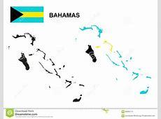 Bahamas Network Map Vector Illustration CartoonDealer