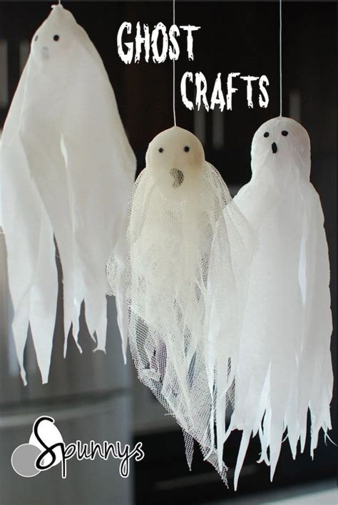 cotton ghost craft for for you can use spun cotton shapes to make 7525