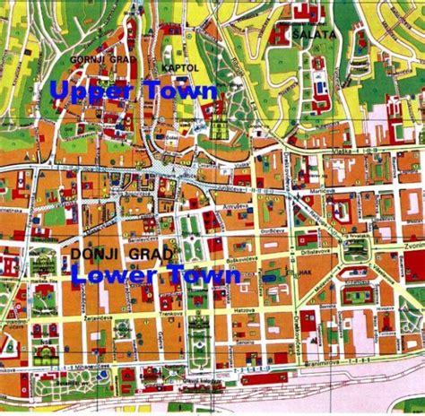 zagreb map  easily   croatias capital