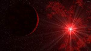 Sunlight through red space wallpaper - Space wallpapers ...